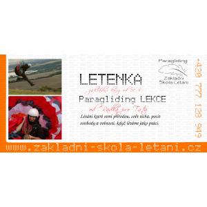 Jednodenní paragliding - ukázková lekce
