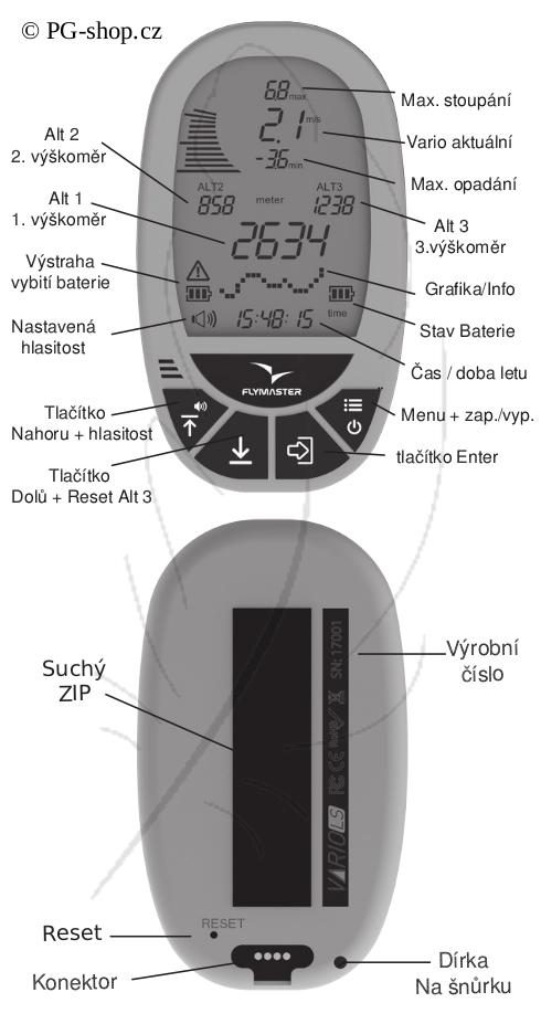 popis Flymaster Vario LS